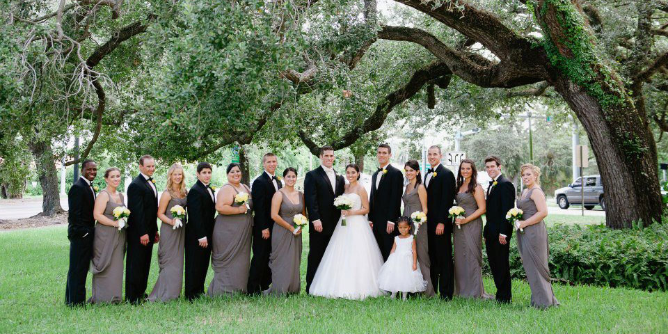 Granada Weddings Group on Front Lawn