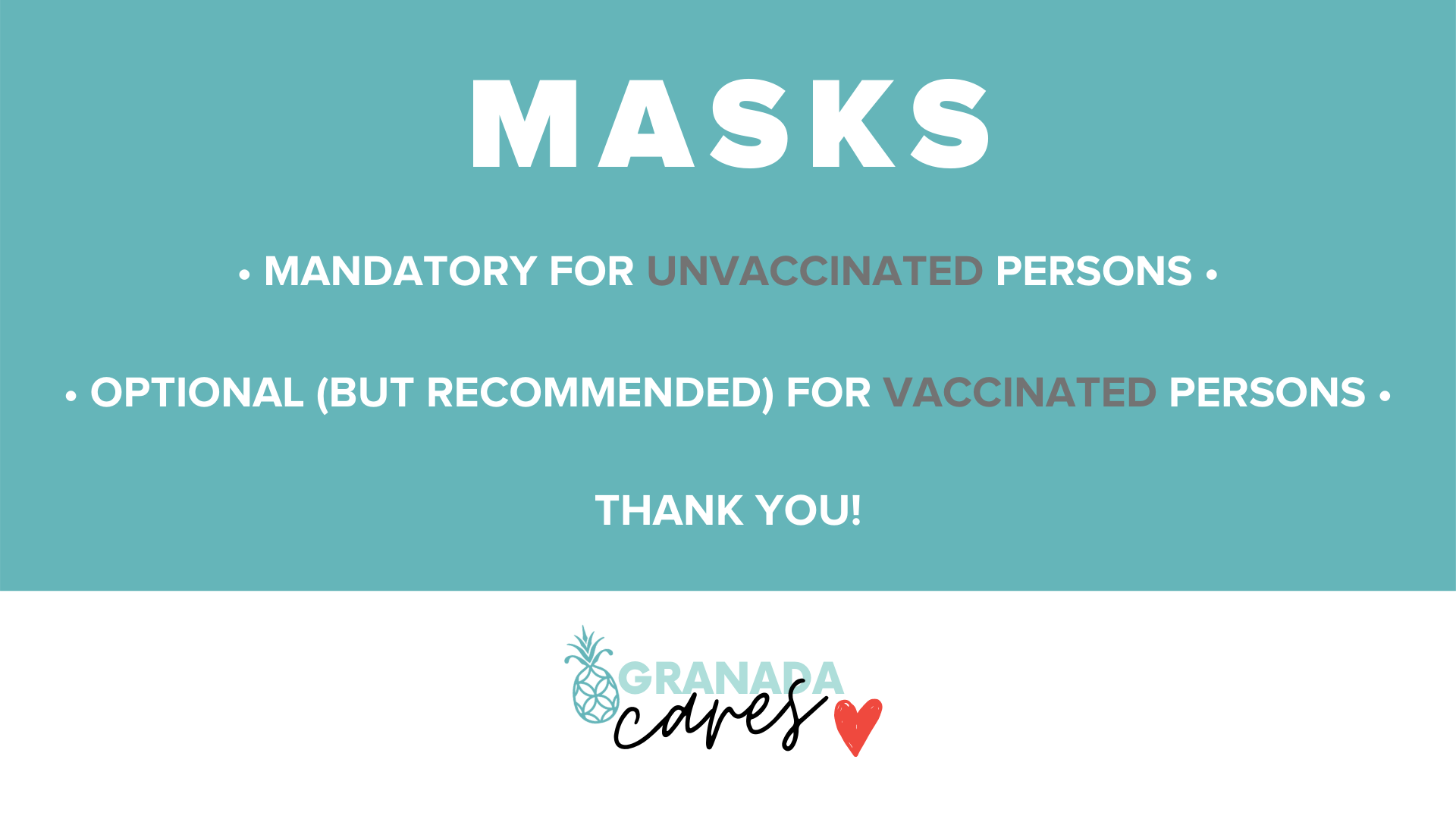 Masks are Mandatory for Unvaccinated